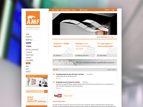 AMF Ceilings Website