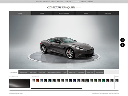 Aston Martin Configurator Website