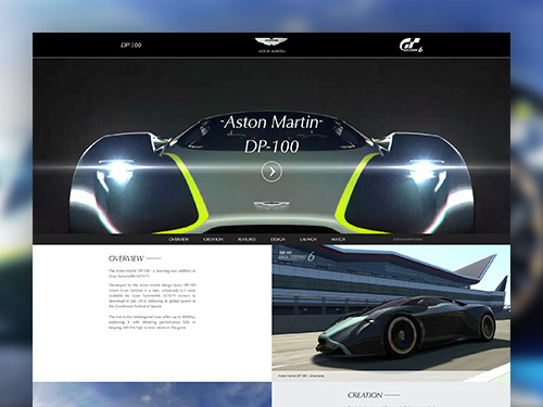 Aston Martin DP100 Responsive Website
