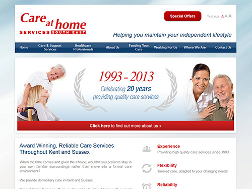 Care at Home Services Website