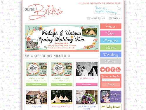 Creative Brides Responsive Website
