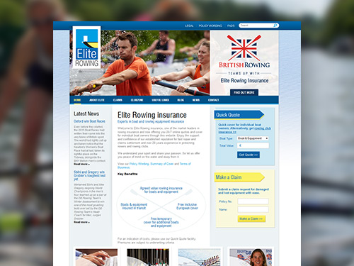 Elite Rowing E-Commerce Website