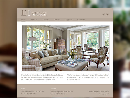 Evernden Interiors Website