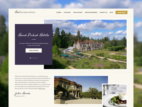 Hand Picked Hotels Responsive E-Commerce Website