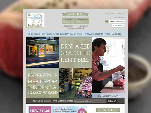 Ian Chatfield Butchers & Delicatessen E-Commerce Website