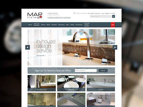 MAP Living E-Commerce Website