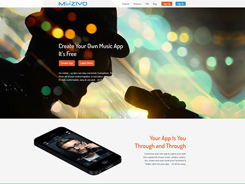 Muzivo Responsive Website