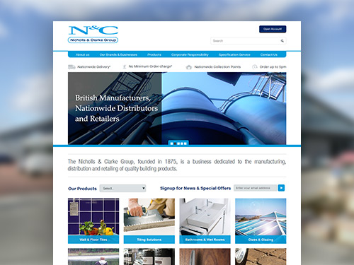 Nicholls & Clarke Group Responsive E-Commerce Website