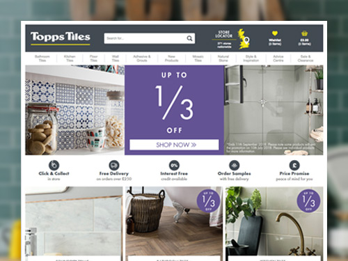 Topps Tiles E-Commerce Website